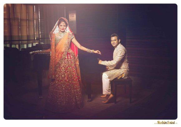 Shantnu-nikhil-wedding-collection-Sabyasachi-lengha-red-color